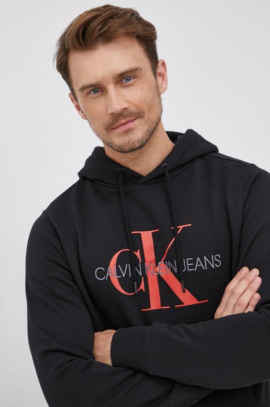 czarny Calvin Klein Jeans - Bluza bawełniana Męski