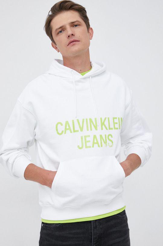 biały Calvin Klein Jeans - Bluza bawełniana Męski
