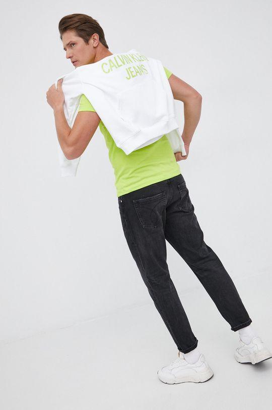 Calvin Klein Jeans - Bluza bawełniana biały