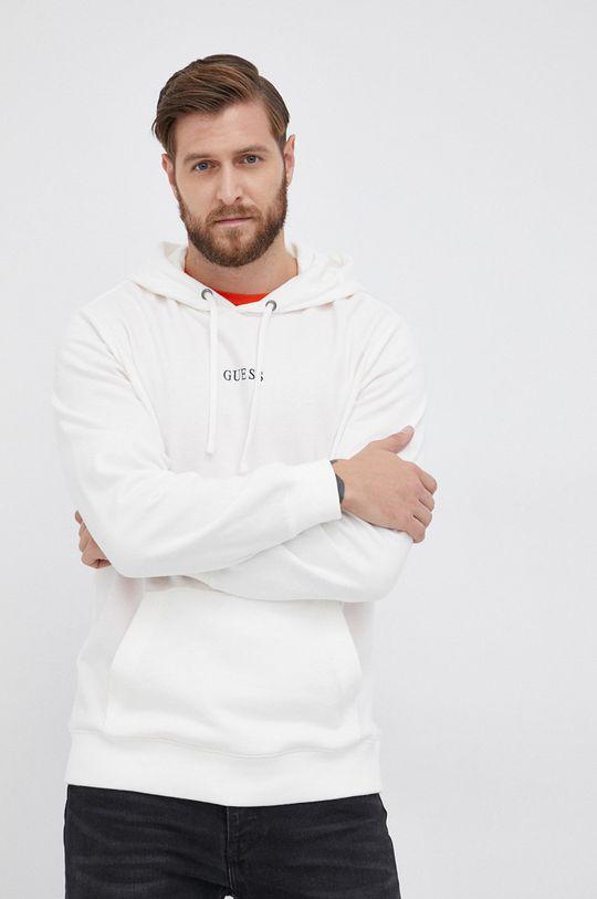 biały Guess - Bluza Męski