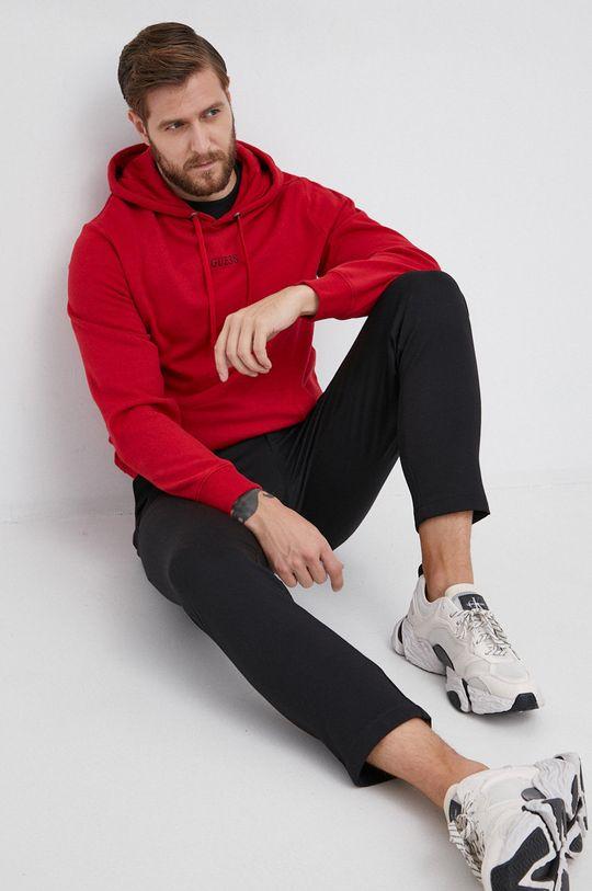 czerwony Guess - Bluza Męski