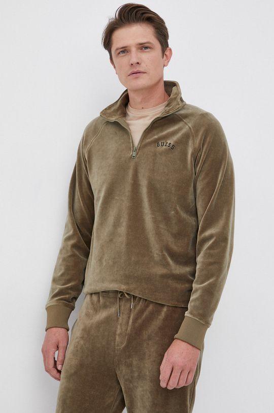 blady zielony Guess - Bluza Męski