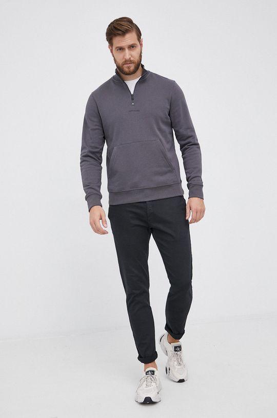 Calvin Klein Jeans - Bluza bawełniana szary