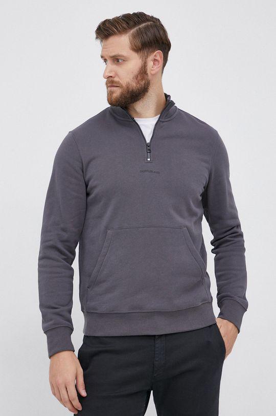 szary Calvin Klein Jeans - Bluza bawełniana