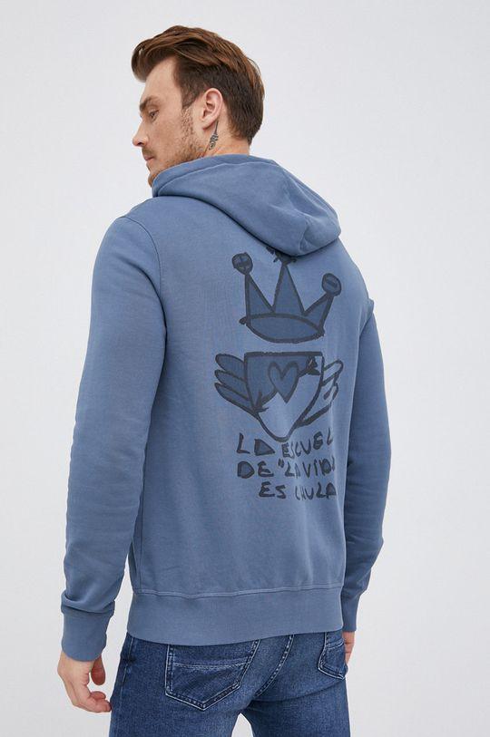 modrá Desigual - Bavlněná mikina