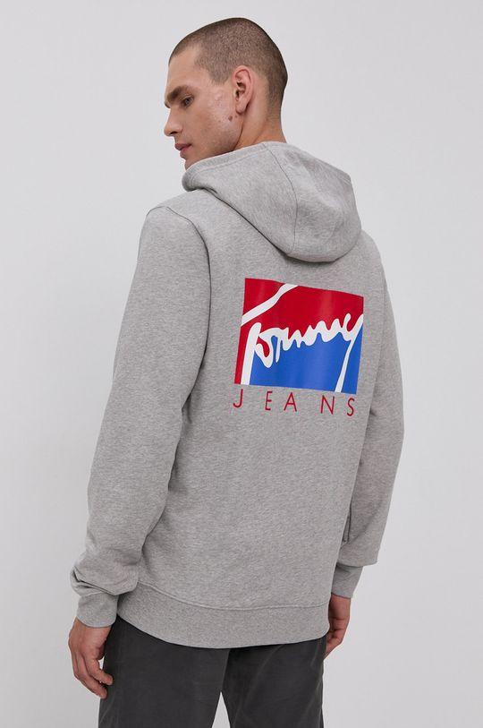 světle šedá Tommy Jeans - Bavlněná mikina Pánský