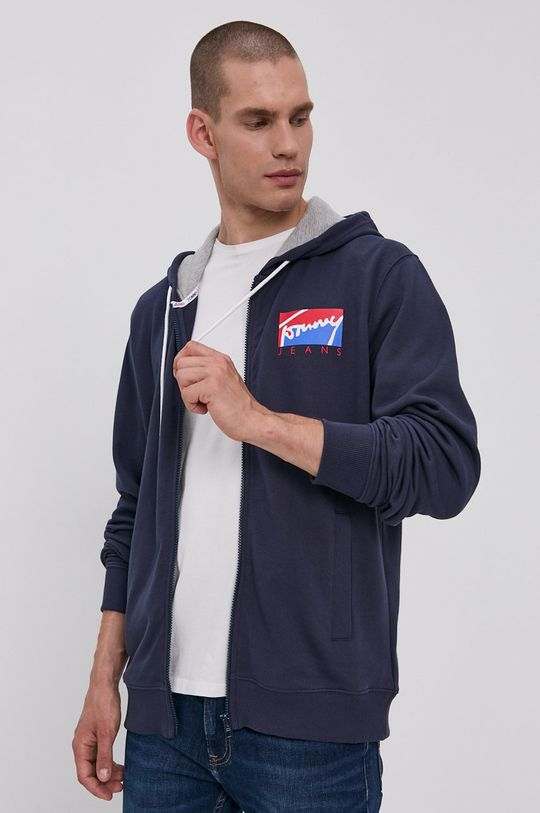 Tommy Jeans - Bavlněná mikina námořnická modř