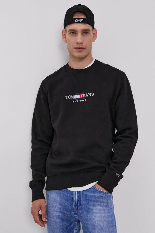čierna Tommy Jeans - Mikina Pánsky