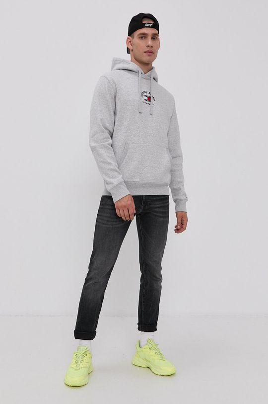 Tommy Jeans - Mikina světle šedá
