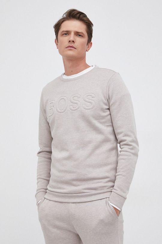 Boss - Bluza piaskowy