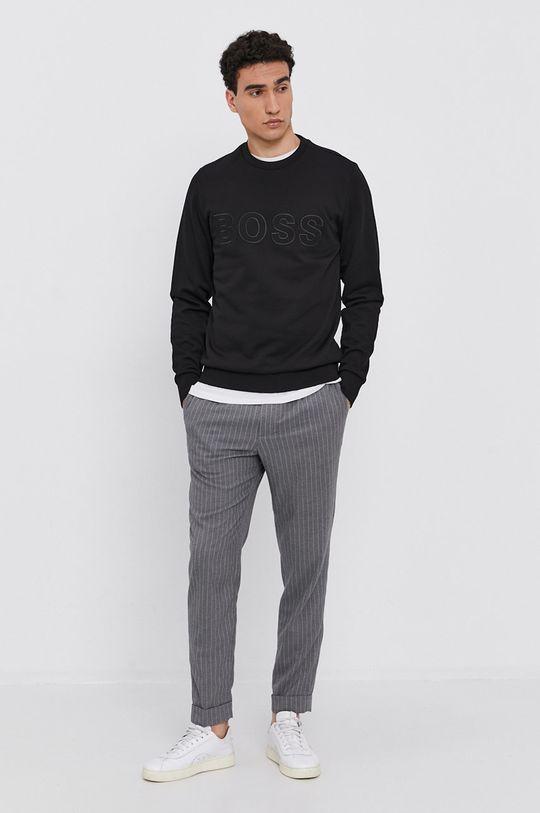Boss - Bluza bawełniana czarny