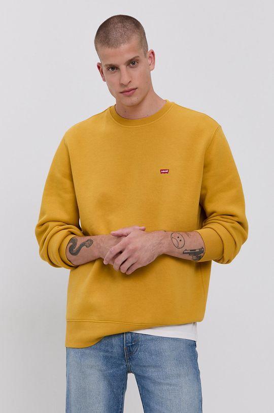 żółty Levi's - Bluza Męski