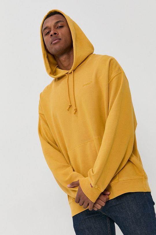 żółty Levi's - Bluza bawełniana Męski