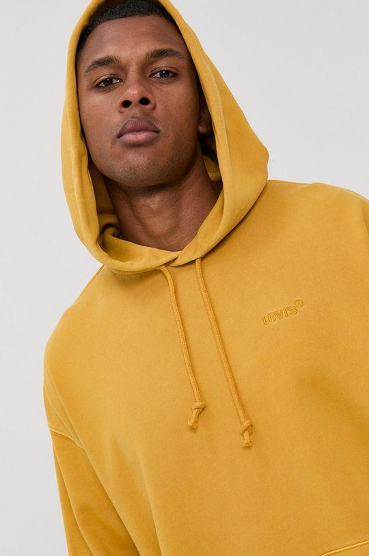 żółty Levi's - Bluza bawełniana