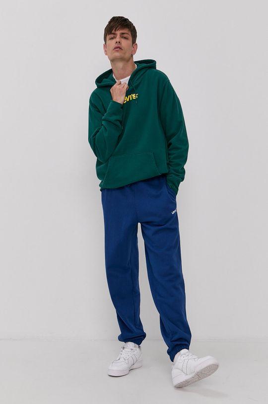 Levi's - Bavlněná mikina zelená