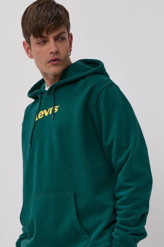 zelená Levi's - Bavlněná mikina