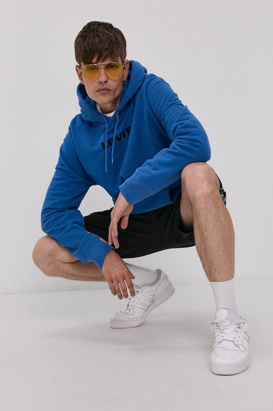 modrá Levi's - Bavlněná mikina