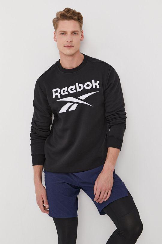 czarny Reebok - Bluza Męski