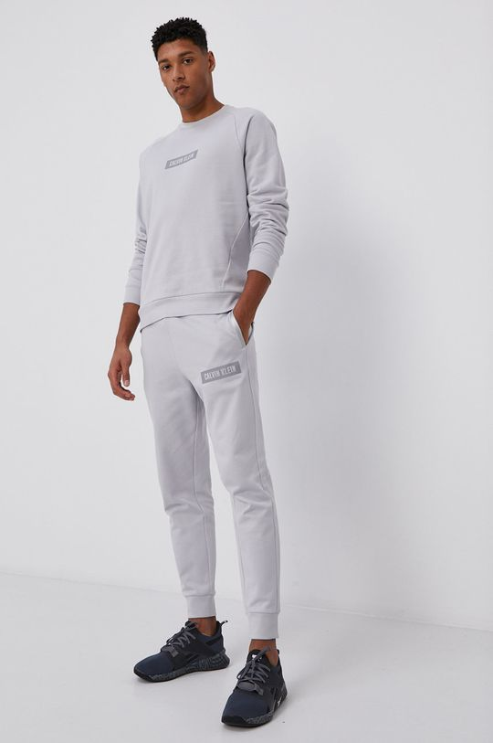Calvin Klein Performance - Bavlnená mikina sivá