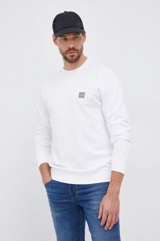 biały Boss - Bluza bawełniana Boss Casual Męski