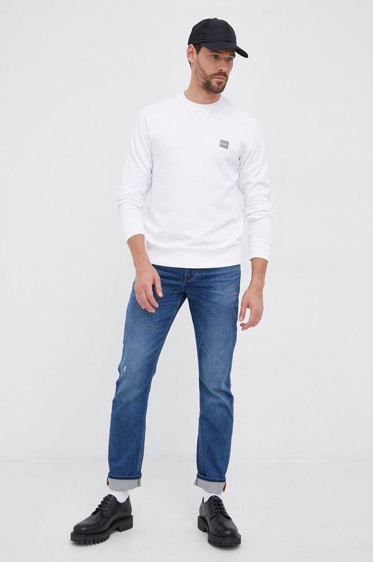 Boss - Bluza bawełniana Boss Casual biały