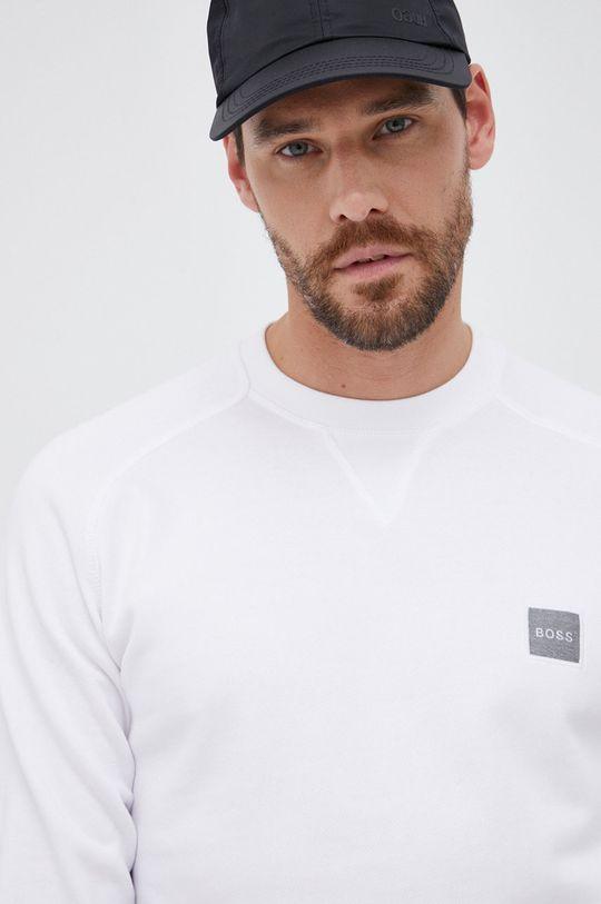 biały Boss - Bluza bawełniana Boss Casual