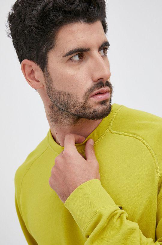 żółto - zielony Boss - Bluza bawełniana Boss Casual
