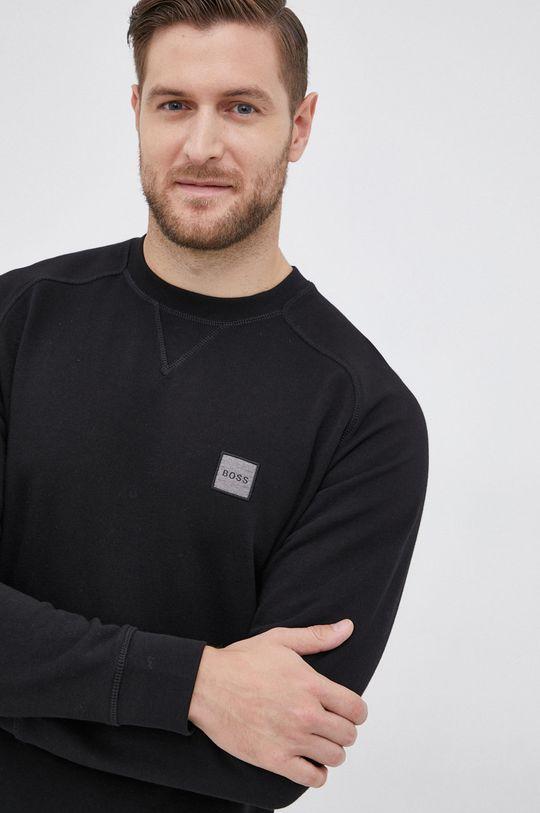 czarny Boss - Bluza bawełniana Boss Casual Męski