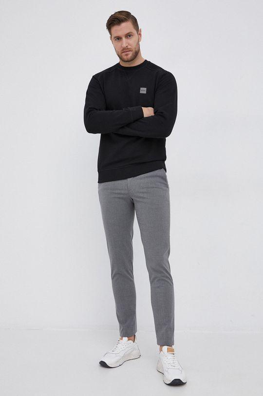 Boss - Bluza bawełniana Boss Casual czarny