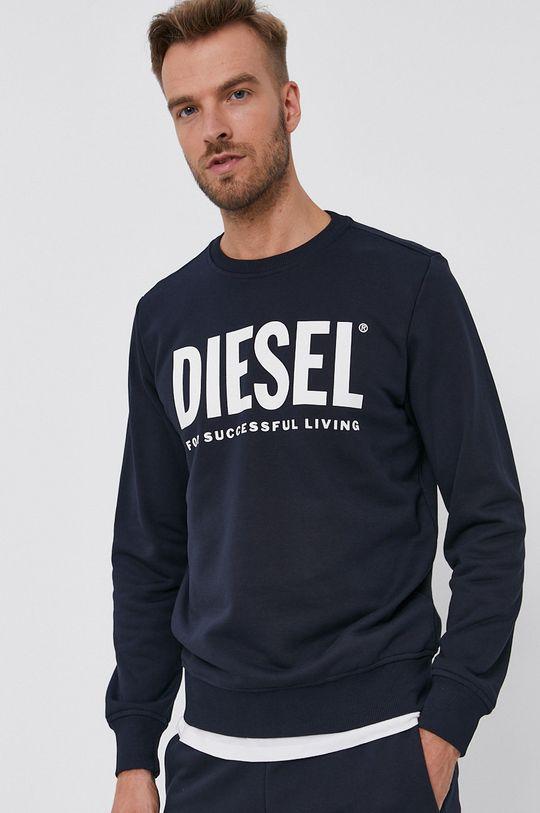 Diesel - Bluza bawełniana granatowy