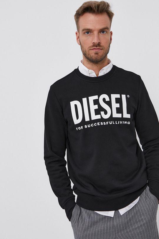 czarny Diesel - Bluza bawełniana Męski