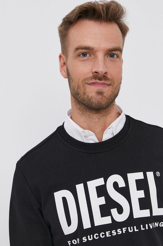 czarny Diesel - Bluza bawełniana