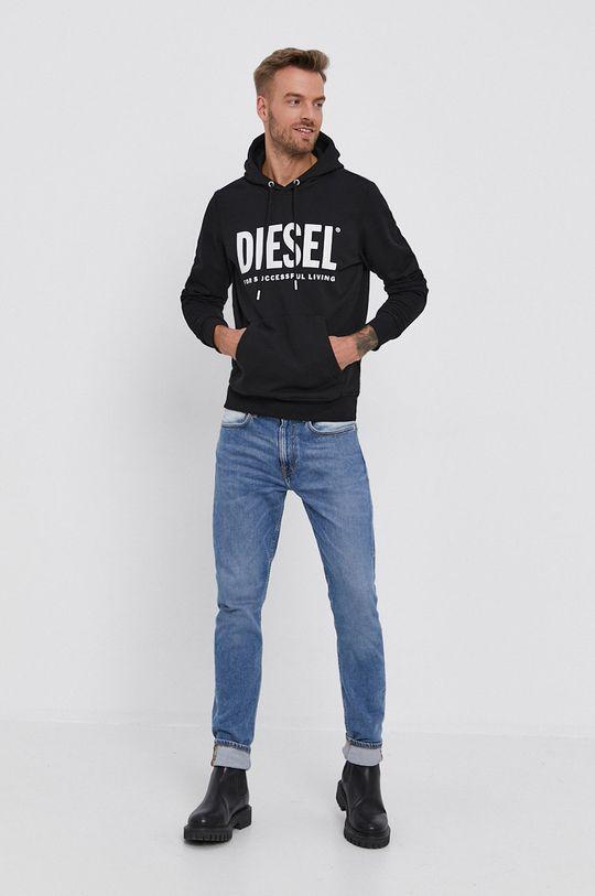 Diesel - Bluza bawełniana czarny
