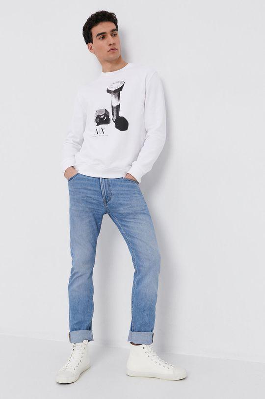 Armani Exchange - Bluza bawełniana biały