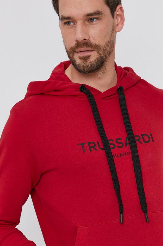 červená Trussardi - Bavlněná mikina