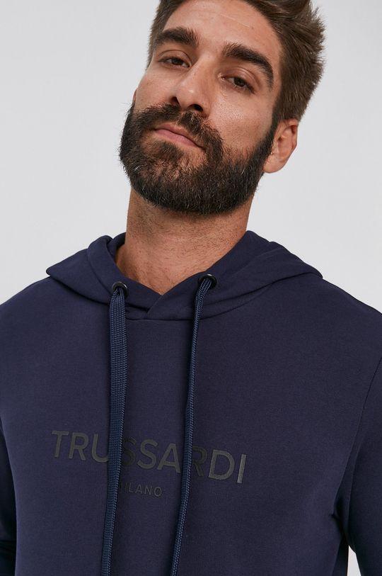 granatowy Trussardi - Bluza bawełniana
