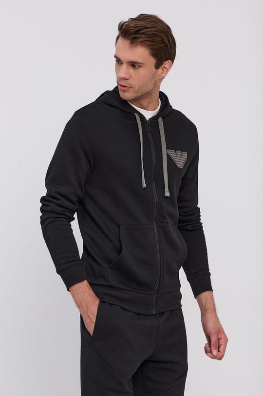 czarny Emporio Armani Underwear - Bluza Męski