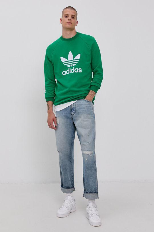 adidas Originals - Bluza bawełniana zielony