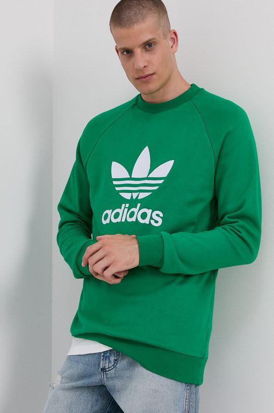 zielony adidas Originals - Bluza bawełniana