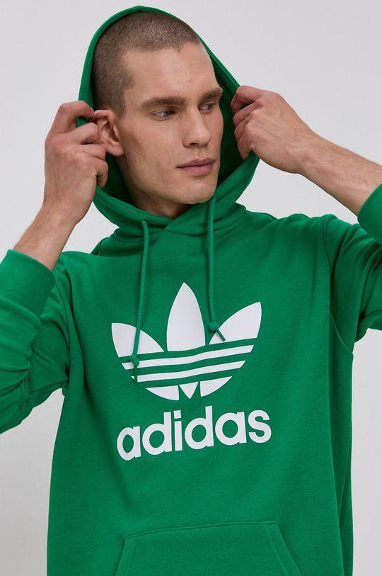 zelená adidas Originals - Bavlněná mikina Pánský