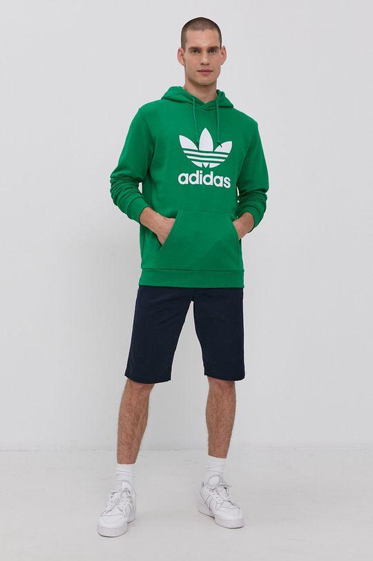 adidas Originals - Bavlněná mikina zelená