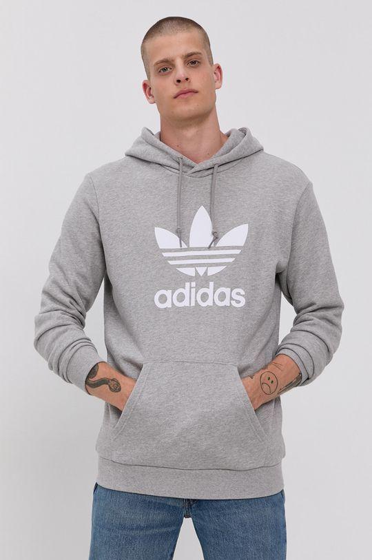 szary adidas Originals - Bluza bawełniana