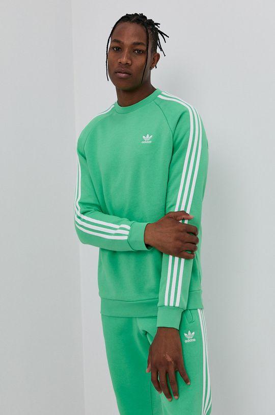 zielony adidas Originals - Bluza