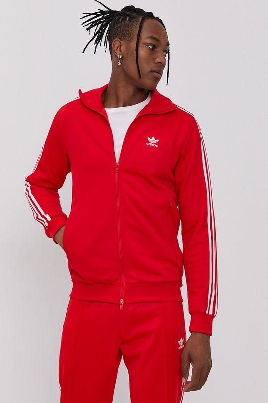 červená adidas Originals - Mikina Pánský