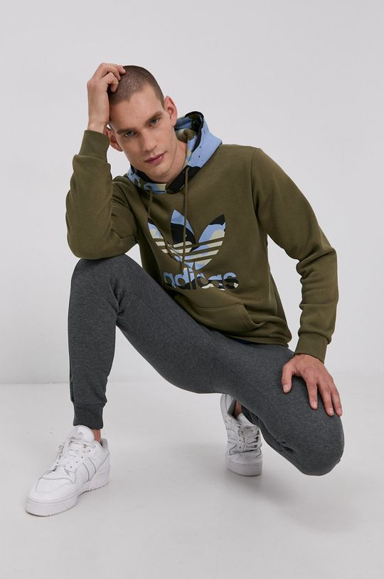 zelená adidas Originals - Mikina Pánský
