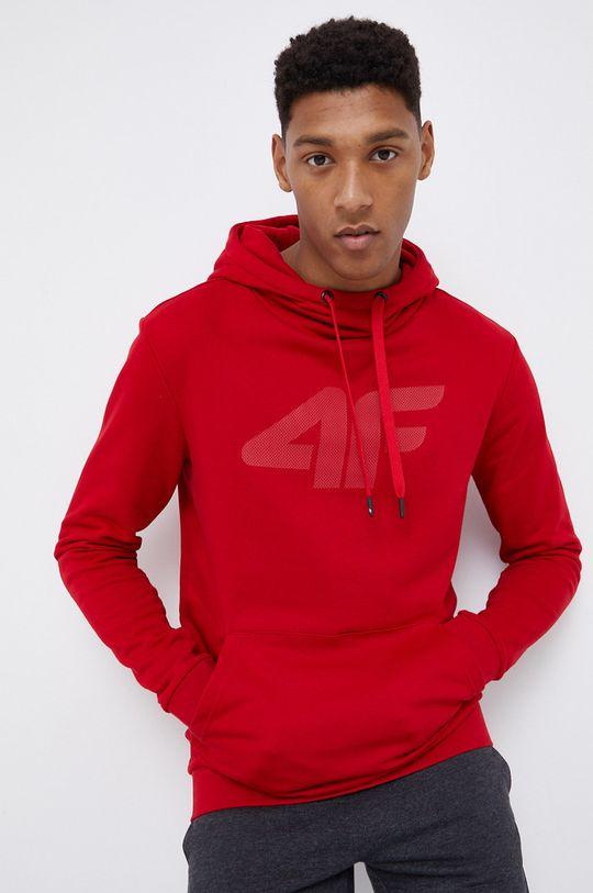 czerwony 4F - Bluza Męski