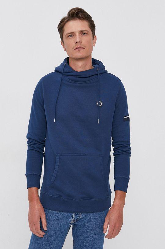modrá Pepe Jeans - Bavlněná mikina Aaron Pánský