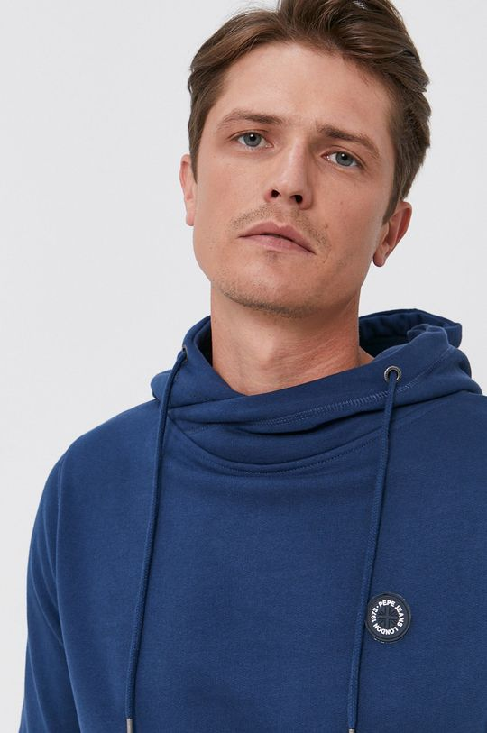 modrá Pepe Jeans - Bavlněná mikina Aaron