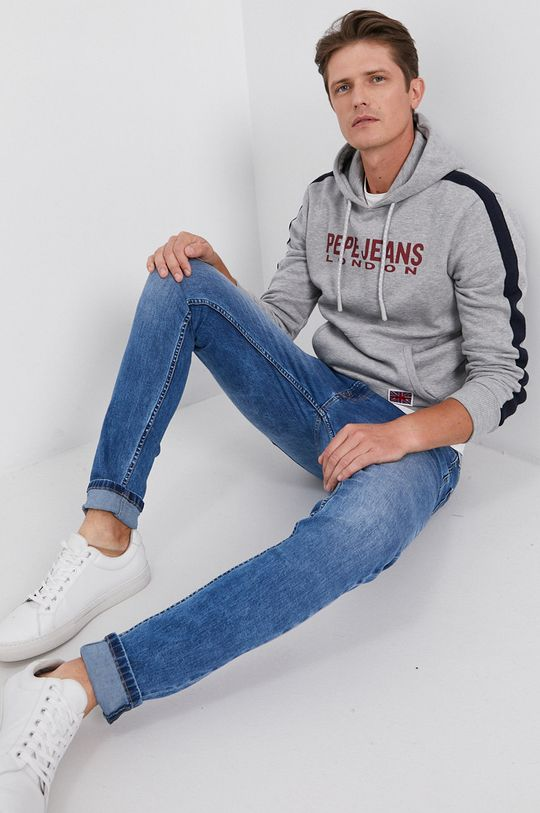 Pepe Jeans - Mikina Andre sivá