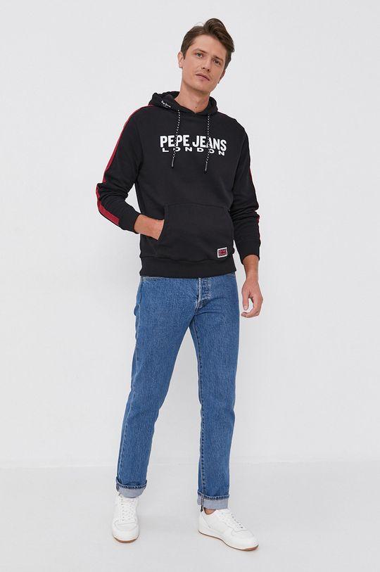 Pepe Jeans - Bavlněná mikina Andre černá